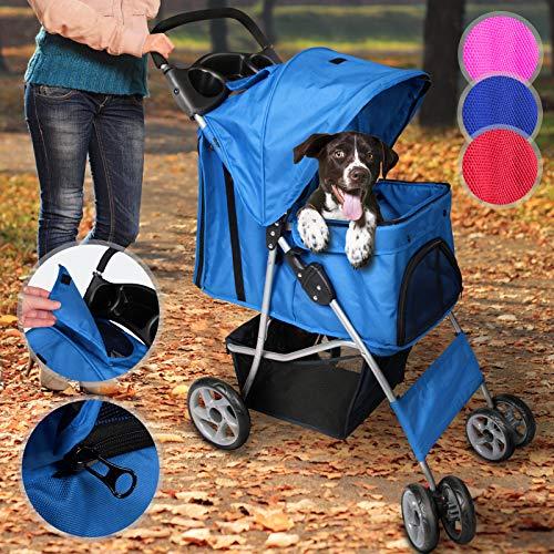 Leopet Hundebuggy für Hunde bis 15 kg | aus wasserdichtem Material, mit...
